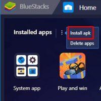 install apk on bluestacks 4